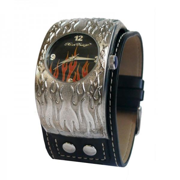 Biker Flammende Armbanduhr