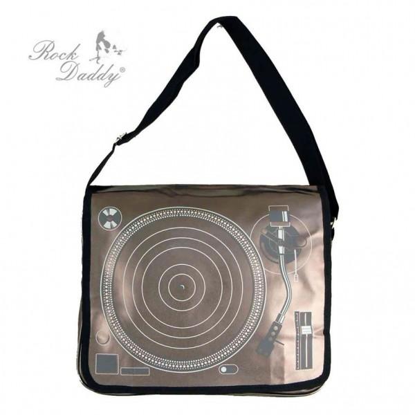 Kupfer Farbene Schallplattenspieler Tasche als Messenger Bag