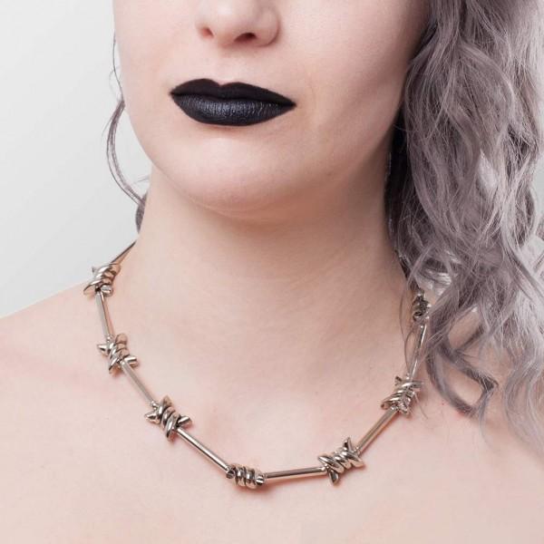 Metall Stacheldraht Halskette