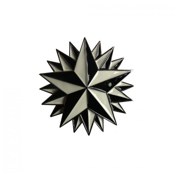 Schwarz Weiße Gürtelschnalle Seemanns Stern