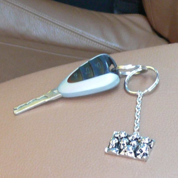 Metall Schlüsselanhänger Totenschädel