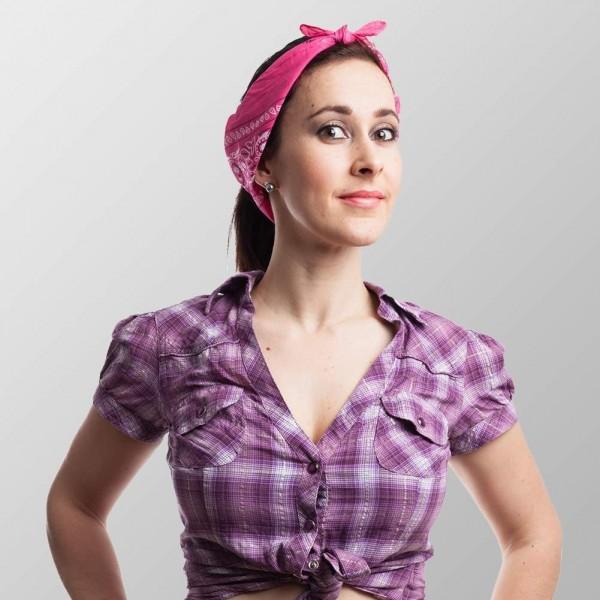 Bandana Halstuch Pink Paisley 55 cm x 55 cm