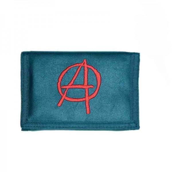Geldbörse mit Besticktem Anarchy Logo inklusive Kette