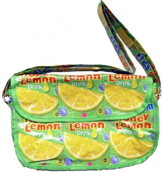 Zitronen Eis Tee Drink Recycling Umhänge Messenger Tasche