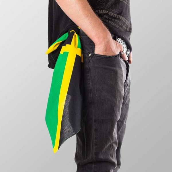 Bandana Halstuch Multicolor Jamaika Flagge 55 cm x 55 cm