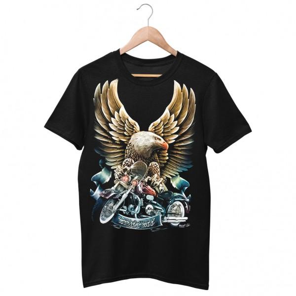 Wild Born Free Adler Biker T-Shirt