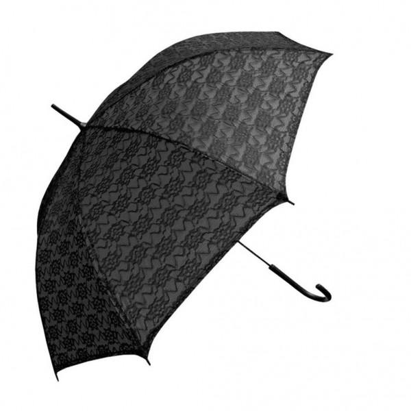 Schwarzer Stock Regenschirm mit Spitze Überzogen Occult Style