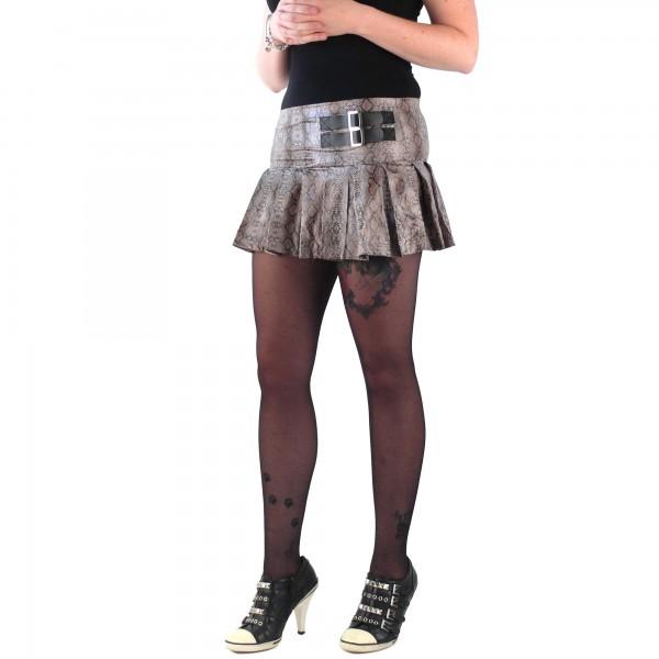 Grauer Schlangenhaut Style Damen Minirock one size