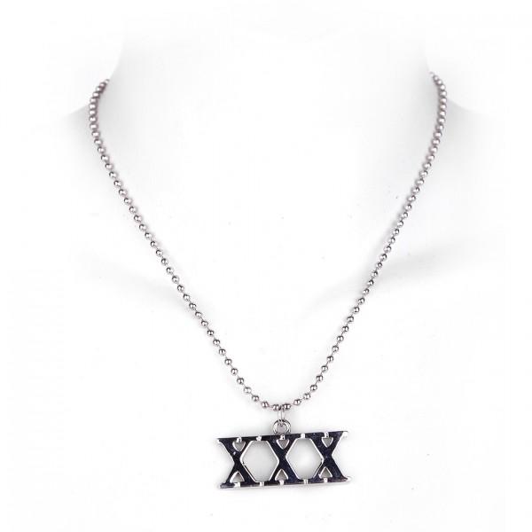 Metallkette mit Anhänger - XXX