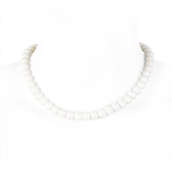 Weiße Fluoreszierende künstliche Perlenhalskette