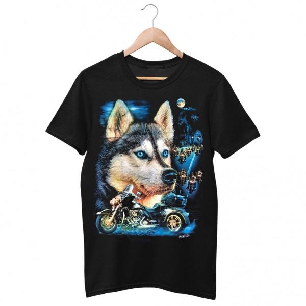Wild Husky Biker T-Shirt