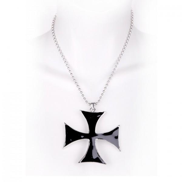 Metallkette mit Anhänger - Eisernes Kreuz