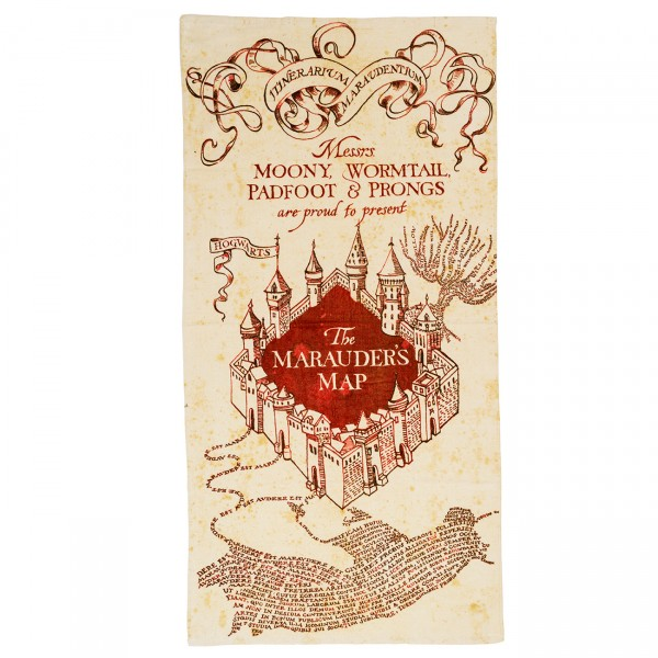 Harry Potter Marauders Map Baumwolle Handtuch 150cm x 75cm