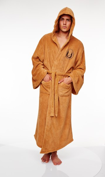 Star Wars Jedi Bademantel Fleece Robe Jedi Orden hellbraun