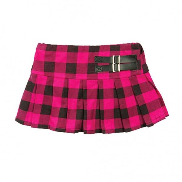 LD New York Mädchen Rock im Pink Schwarzen Schottenmuster