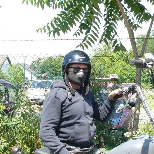 Schwarze Uni Farbene Neopren Biker Maske
