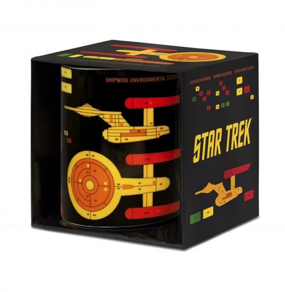 Star Trek Blueprint Logo Tasse Schwarz ca.300ml