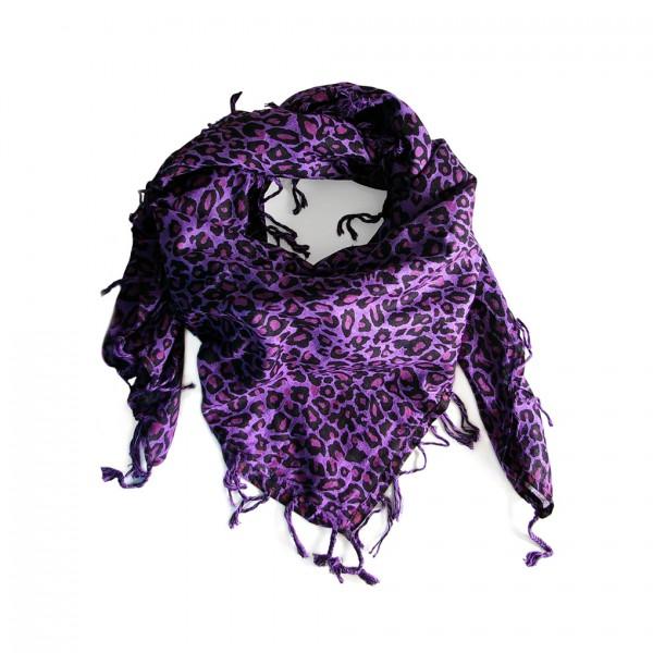 Leoparden Fell Baumwolltuch in Lila Purple Rain