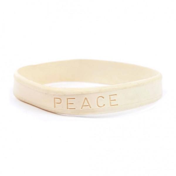 Gummi Armband PEACE