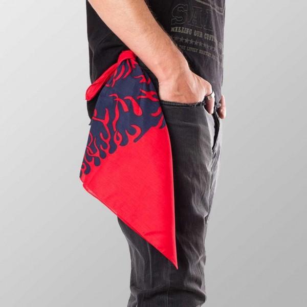 Bandana Halstuch Rot Flammen 55 cm x 55 cm