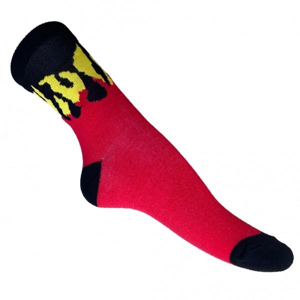 Flammen Turnschuh Socken one size