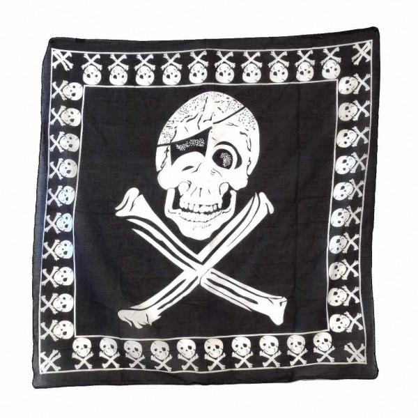 Bedrucktes Baumwolltuch mit Jolly Roger Piraten Print