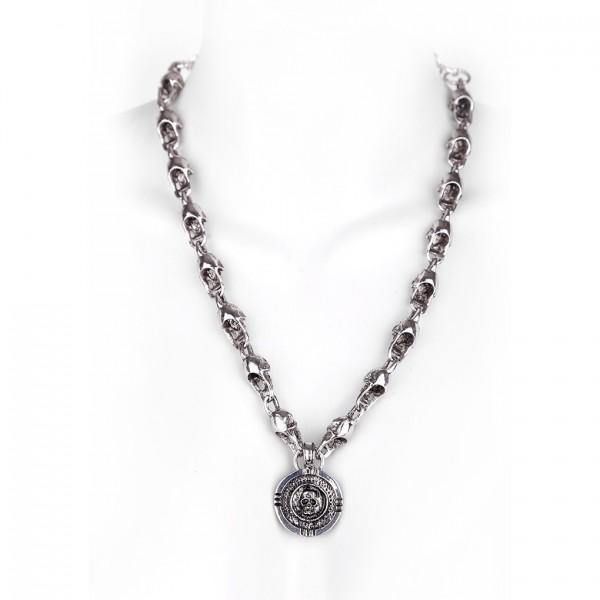 Totenkopf Halskette mit Medaillon