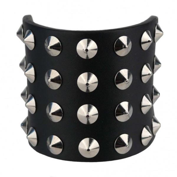 Nieten Armband 4-reihig Flat Cones