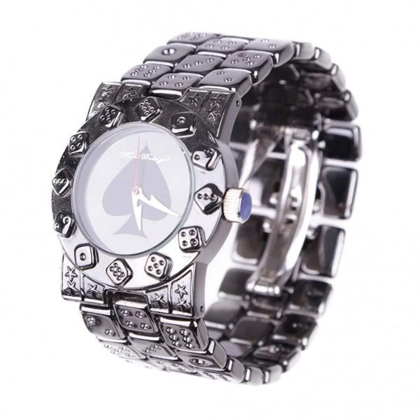 Premium Metal Würfel Armbanduhr