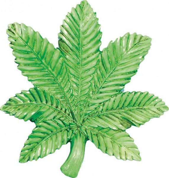 Grünes Marihuana Blatt Aschenbecher