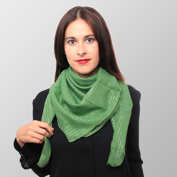 Lurex Halstuch aus Baumwolle Dunkel Grün
