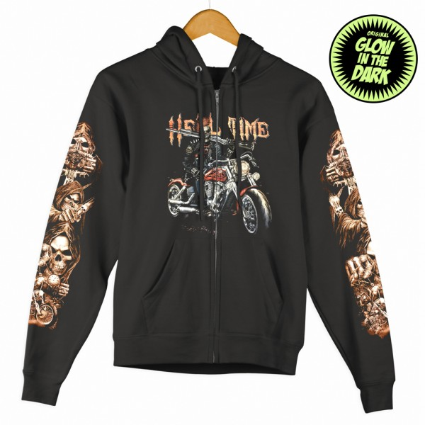 Wild Hoodie Zipper Jacke Hell Time Glow in the Dark