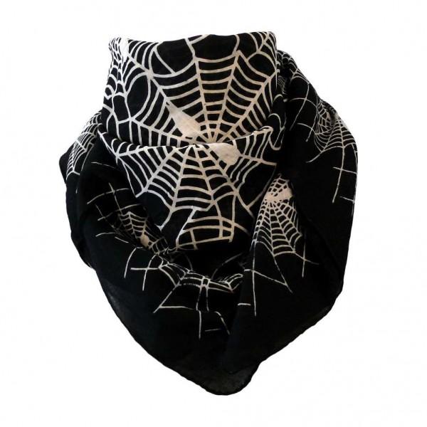 Black Sinner Ocult Spinnenweben Baumwolltuch