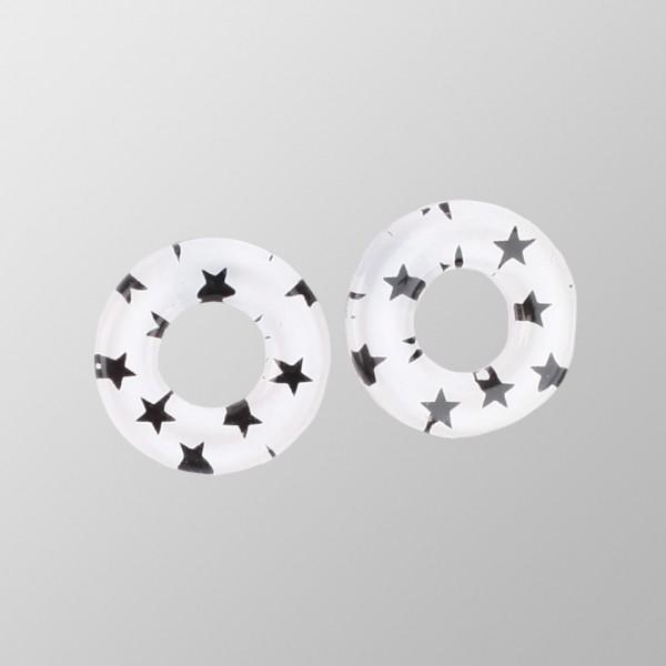 Rockabilly ringförmige Ohrringe mit Sterne