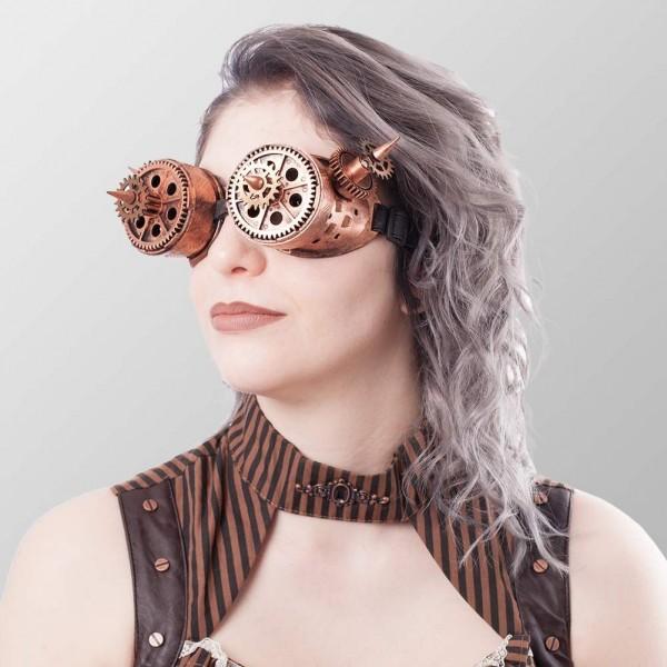 Brillen mit Zahnrädern und Spitzen - Bronze