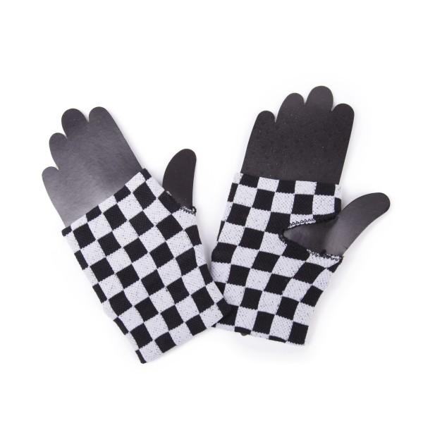 Fingerlose Handschuhe im Schachbrett Design