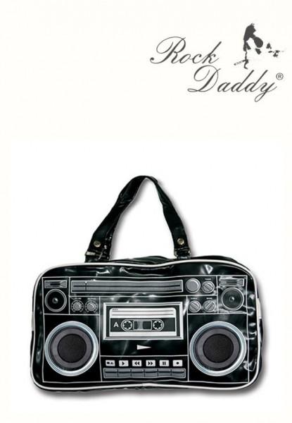 Schwarze Radio Boombox Tasche mit Eingebauten Lautsprechern