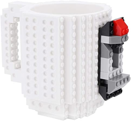 Brick Baustein Kunststoffbecher ca. 355ml Weiß