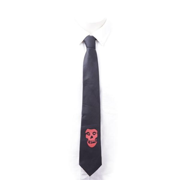 Schwarze Krawatte mit Totenkopf