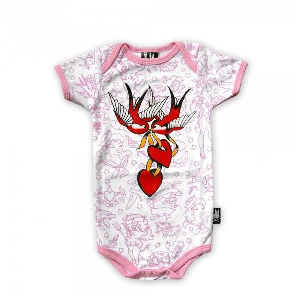 Six Bunnies Baby Girl Love Body