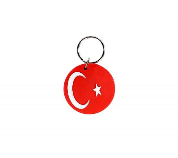 Gummi Schlüsselanhänger Türkische Flagge
