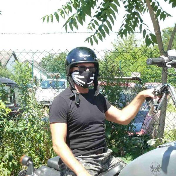 Neopren Biker Halbmaske Skelett Hände