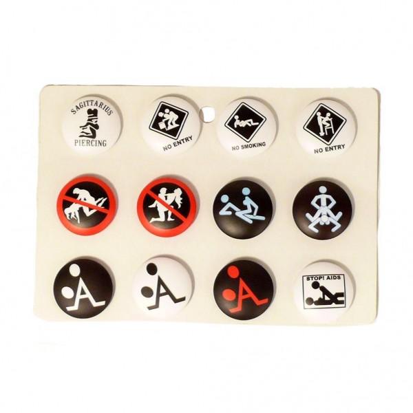 Kamasutra Buttons Gemischt