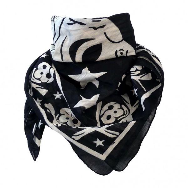 Piraten Schädel Sternen Tuch aus Baumwolle