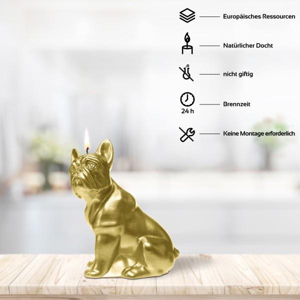 Goldene Bulldog Kerze
