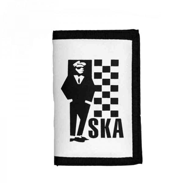 Geldbörse mit Bedrucktem SKA Logo und Kette