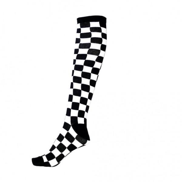 Schwarz Weiße Schachbrett Socken Kariert Unisize
