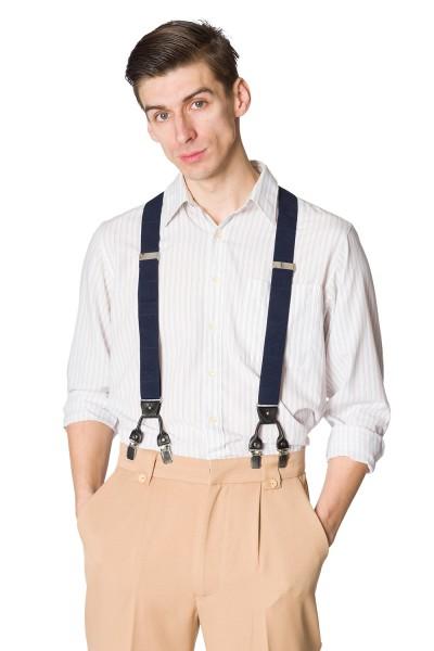 Schwarzer Hosenträger mit Verstellbaren Riemen und Knopf Ersatz