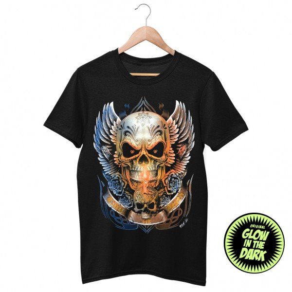Wild Glow in the Dark King Death T-Shirt