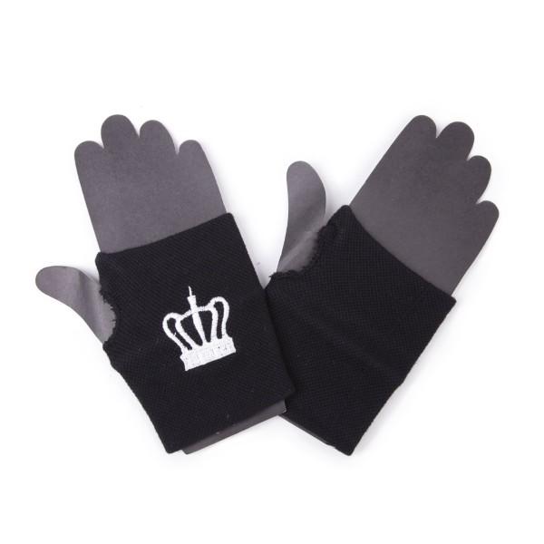 Fingerlose Handschuhe The Queen Kronen Stickerei